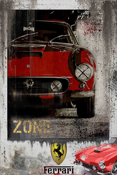 Ferrari 250 Red - 3D Bild