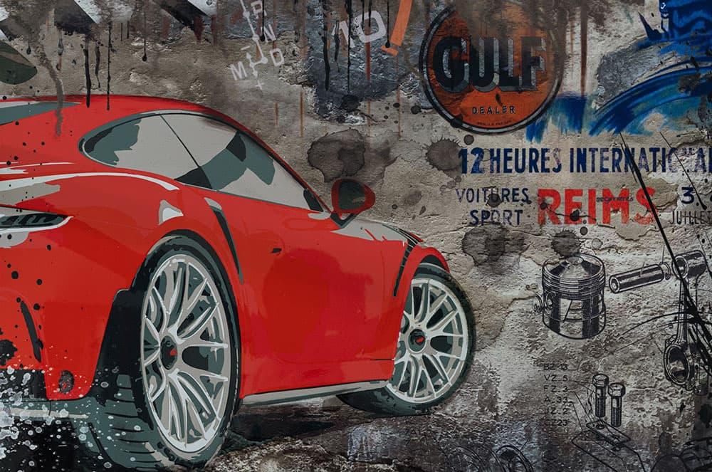 Wallart 3D - Porsche